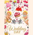 engagement party invitation wedding day ceremony vector image