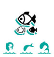fish icon or logo vector image vector image