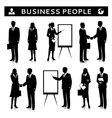 Flipcharts with business people silhouettes vector image vector image