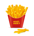French Fries in red paper box vector image vector image