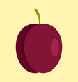 fresh plum icon flat style vector image vector image
