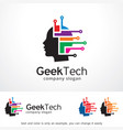 geek technology logo template vector image vector image