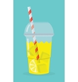 glass with lemonade vector image