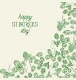 green st patricks day botanical template vector image vector image