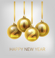 greeting card invitation with happy new year 2020 vector image vector image