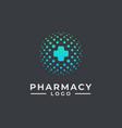 hospital logo design pharmacy logo design health vector image vector image