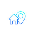 house and mark icon line vector image vector image