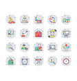 human resources colored line icons set 2 vector image vector image