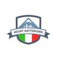 italian mount matterhorn vector image vector image