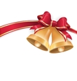 Jingle bells with red ribbon bow EPS 10 vector image
