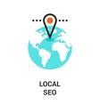 local seo icon vector image