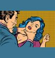 man strangles a woman vector image vector image