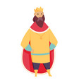 medieval kingdom character middle ages historic vector image vector image