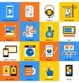 Mobile Application Flat Icon Set vector image vector image