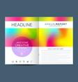 modern template for brochure leaflet vector image vector image