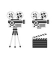 movie projector and clapper board vector image