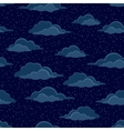 Night Sky with Clouds Seamless vector image
