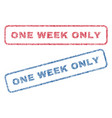 one week only textile stamps vector image vector image