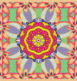 orient symmetry lace fabric wallpaper vintage vector image