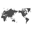 pacific centered world map vector image vector image