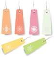 pastel shopping tags vector image vector image