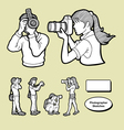 Photographer icons sketch vector image vector image