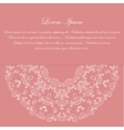Pink card design with ornate pattern vector image