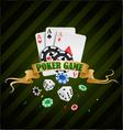 poker gambling chips poster vector image vector image