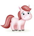 pony animal cute horse cartoon girl beautiful vector image