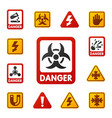 prohibition signs set industry production vector image