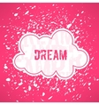 red dream inspirational background Cute vector image vector image