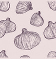 red onion seamless pattern hand draw sketch vector image vector image