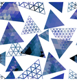 Retro pattern of geometric shapes triangles vector image vector image