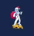 santa astronaut vector image