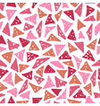 seamless pattern with hand-drawn triangles vector image
