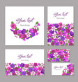 Set business template floral design