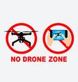 set no drone zone sign vector image vector image