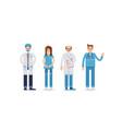 set of doctors in uniform vector image