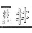 Sharp line icon vector image vector image