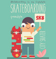 skateboarding poster vector image vector image