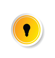 sticker of lightbulb icon vector image
