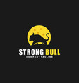 strong bull design idea vector image vector image
