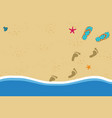 summer frame with copy space flip flops and foot vector image vector image