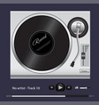 the turntable for playing vinyl records vector image