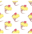 Tile pattern with lemon yellow cupcakes vector image vector image