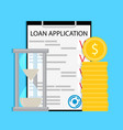 time to pay loan concept vector image
