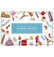 travel to europe concept vector image vector image