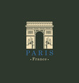 triumphal arch in paris france image vector image
