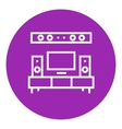 TV flat screen and home theater line icon vector image vector image