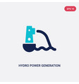 two color hydro power generation icon from vector image vector image